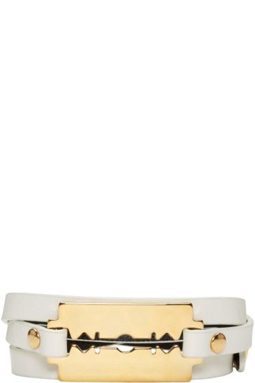 McQ Alexander Mcqueen - White Mini Wrap Razor Bracelet