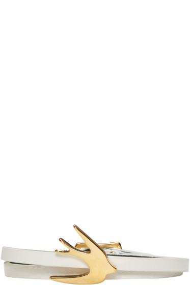 McQ Alexander Mcqueen - White Mini Wrap Swallow Bracelet