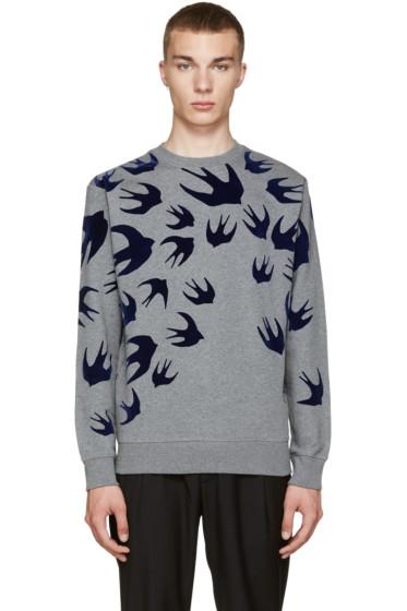 McQ Alexander Mcqueen - Grey Swallow Pullover
