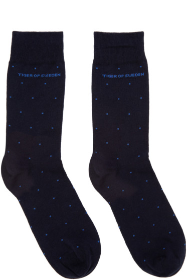 Tiger of Sweden - Navy Abbond Socks
