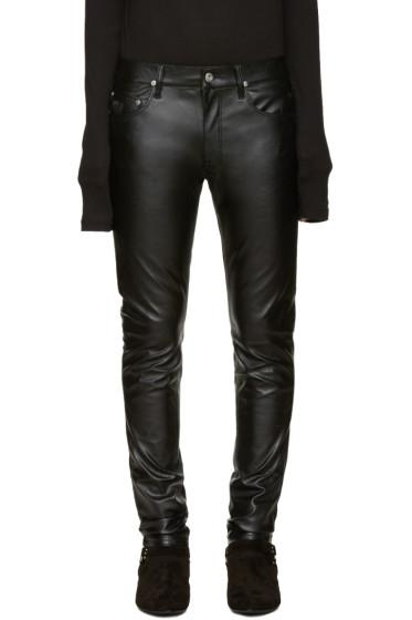 April77 - Black Leather Joey Jeans