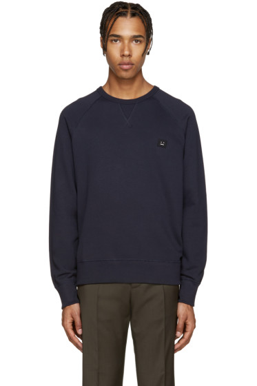 Acne Studios - Navy College Face Pullover