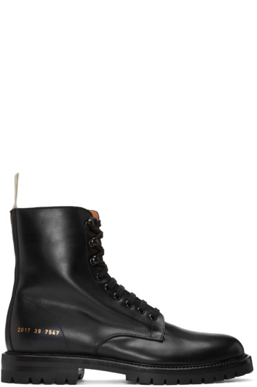 Common Projects - Black Winter Combat Boots