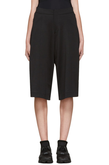 Y-3 - Black 3 Stripes Cropped Lounge Pants