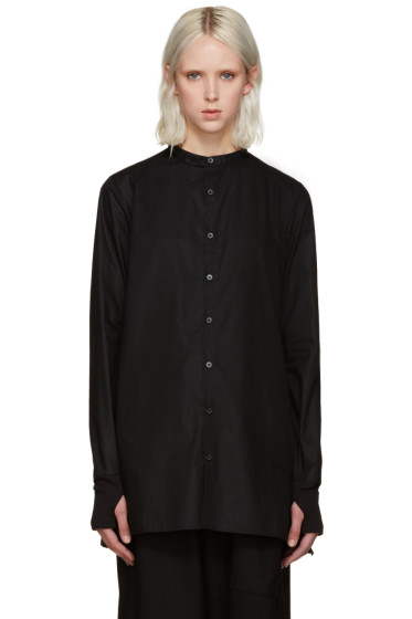 Y-3 - Black Button Shirt