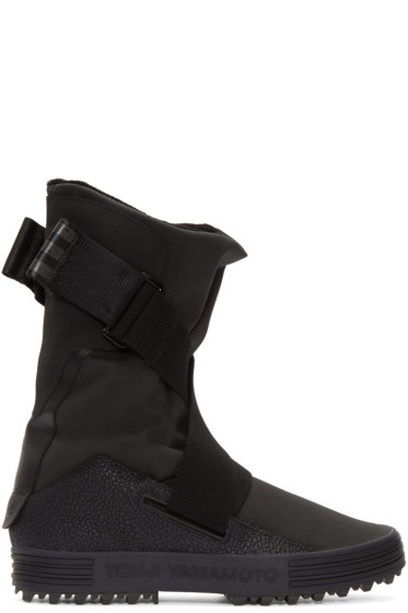 Y-3 - Black Sno Foxing Boots