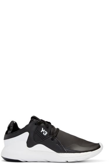 Y-3 - Black QR Run Sneakers