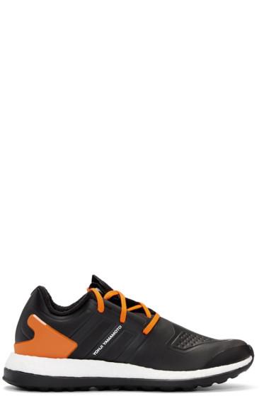 Y-3 - Black & Orange Pureboost ZG Sneakers