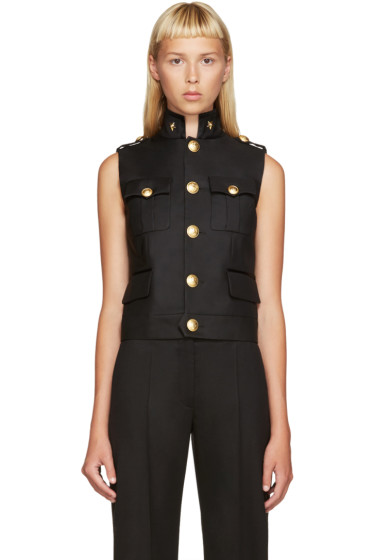 Dsquared2 - Black Wool Army Vest