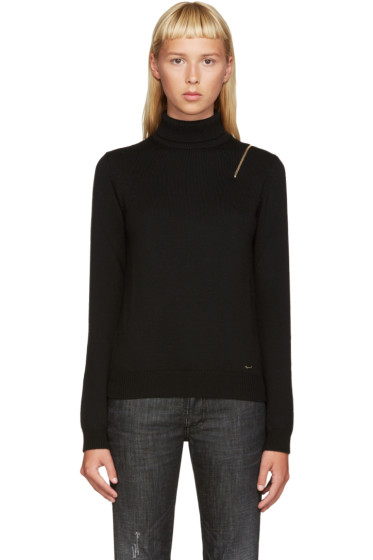 Dsquared2 - Black Wool F7 Turtleneck