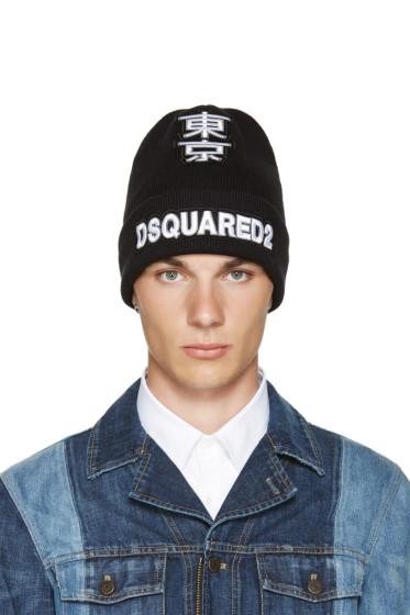 Dsquared2 - Black Logo Beanie