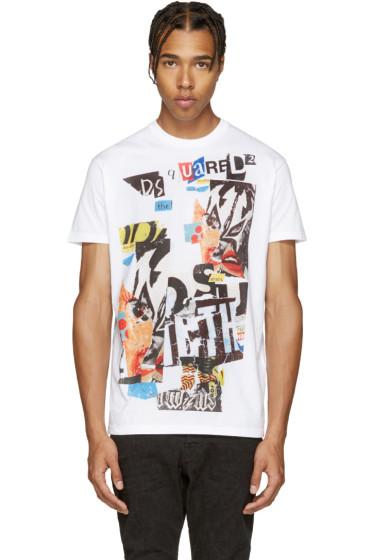 Dsquared2 - White & Multicolor Logo T-Shirt