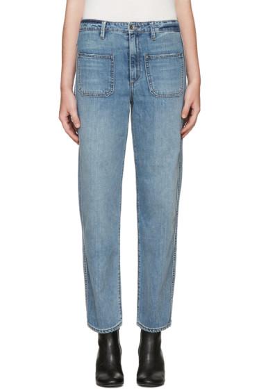 Helmut Lang - Blue Wide-Leg Jeans