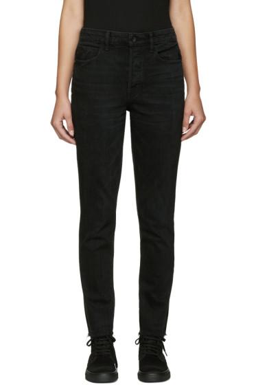 Helmut Lang - Black Fray Crop Jeans