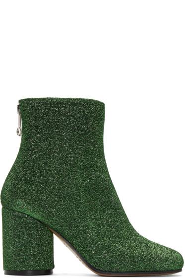 Maison Margiela - Green Metallic Ankle Boots