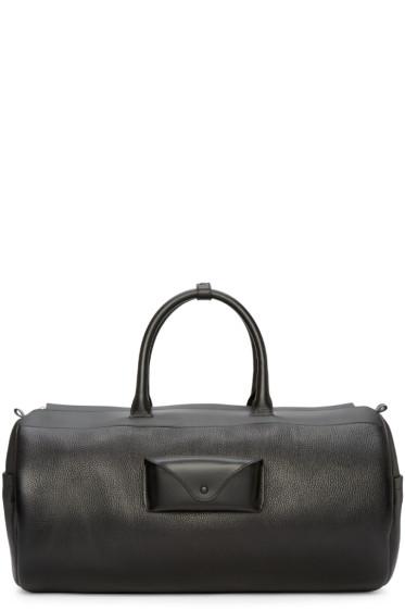 Maison Margiela - Black Leather Duffle Bag
