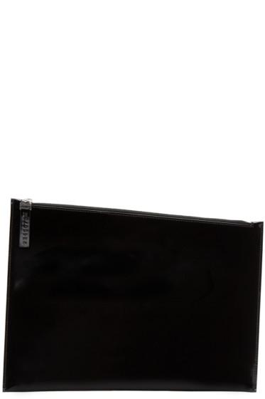 Maison Margiela - Black Patent Leather Document Holder