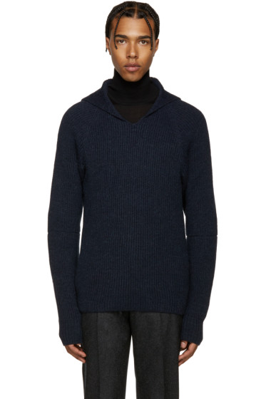 Maison Margiela - Navy Hooded Sweater