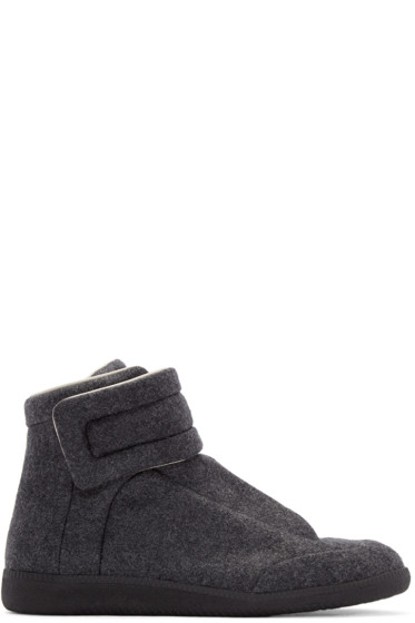 Maison Margiela - Grey Felt Future High-Top Sneakers