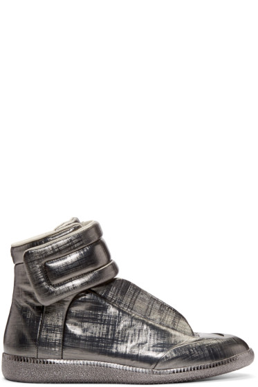 Maison Margiela - Gunmetal Metallic Future High-Top Sneakers