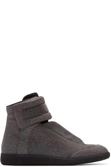 Maison Margiela - Black Glitter Future High-Top Sneakers