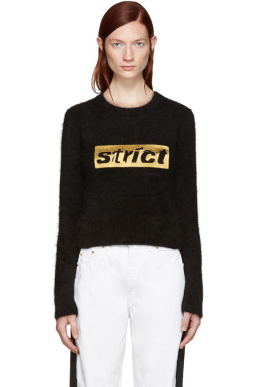 Alexander Wang - Black Angora 'Strict' Sweater