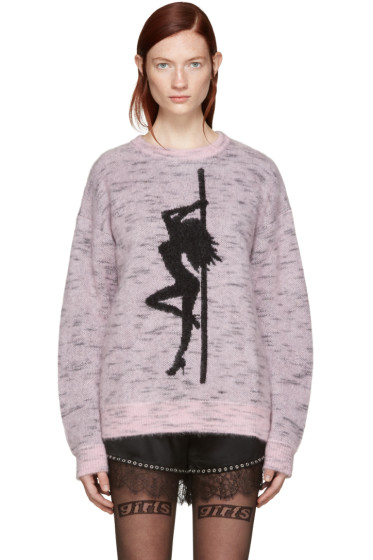 Alexander Wang - Pink Oversized Dancer Sweater
