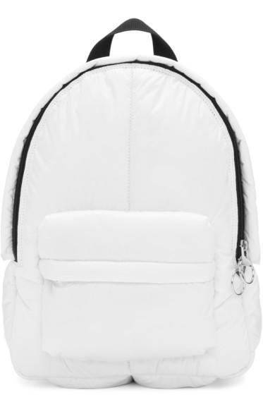 MM6 Maison Margiela - White Puffy Backpack