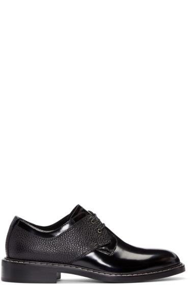 MM6 Maison Margiela - Black Patent Leather Derbys