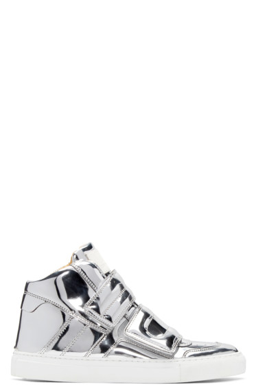 MM6 Maison Margiela - Silver Mirror High-Top Sneakers