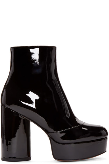 Marc Jacobs - Black Patent Leather Amber Boots