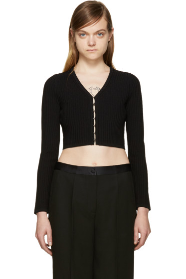 T by Alexander Wang - Black Cropped Cardigan