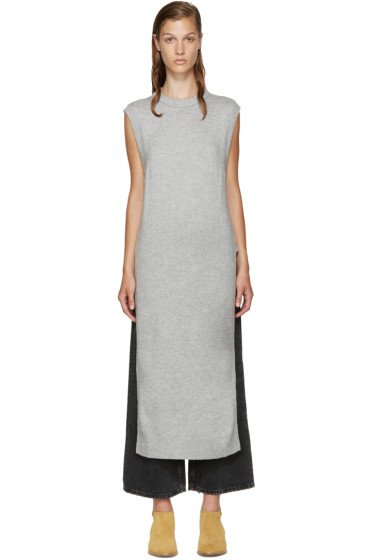 T by Alexander Wang - Grey Wool Sleeveless Sweater