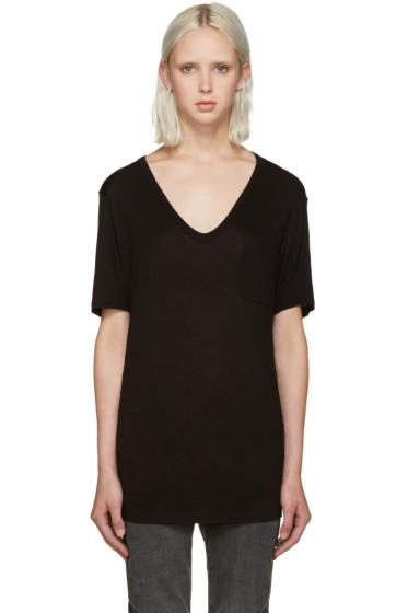T by Alexander Wang - Black Jersey Pocket T-Shirt