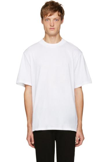 T by Alexander Wang - White Wide Collar T-Shirt