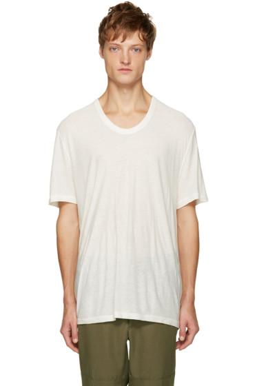 T by Alexander Wang - Ivory Pilled T-Shirt