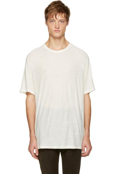 T by Alexander Wang - White Pilled T-Shirt