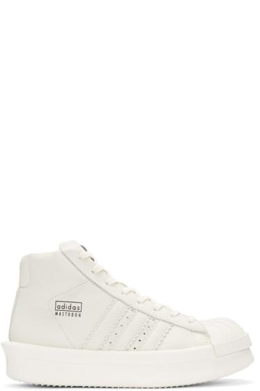 Rick Owens - White adidas Edition Mastodon Pro Sneakers