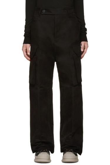 Rick Owens - Black Wide-Leg Cargo Trousers