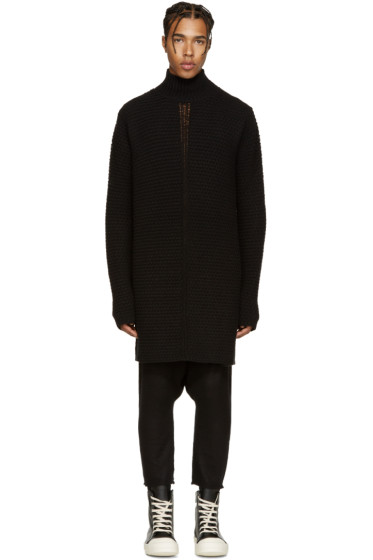 Rick Owens - Black Oversized Turtleneck