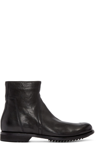 Rick Owens - Black Creeper Slim Army Boots