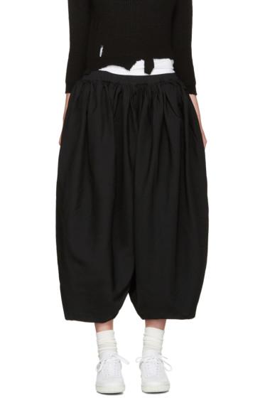 Comme des Garçons - Black Voluminous Pleated Trousers