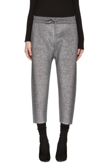 Jil Sander - Grey Lurex Lounge Pants