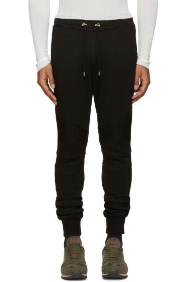 Balmain - Black Biker Lounge Pants