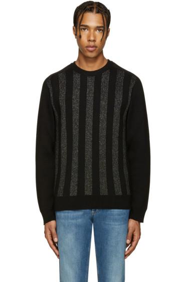 Balmain - Black & Silver Striped Sweater