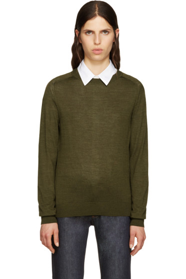 A.P.C. - Green Wool Maud Pullover