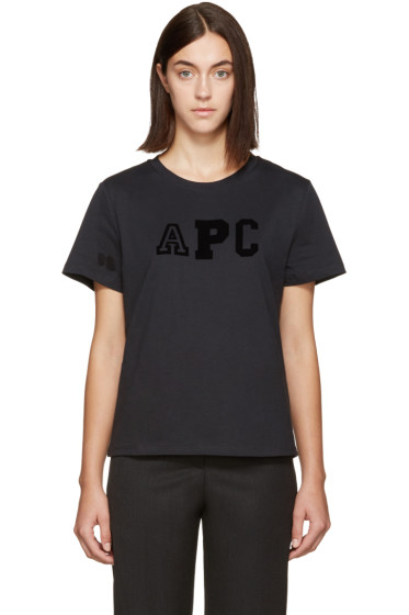 A.P.C. - Navy Collegien Logo T-Shirt
