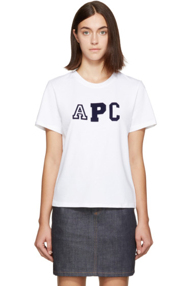 A.P.C. - White Collegien Logo T-Shirt