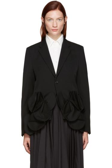 Junya Watanabe - Black Wool Flower Blazer