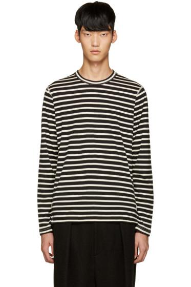 Junya Watanabe - Black & White Stripe T-Shirt